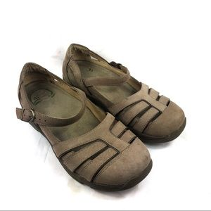 Dansko Mary Jane shoes flats leather brown Sz 7